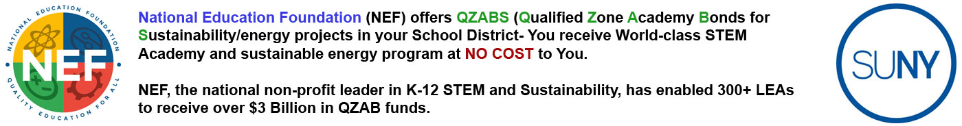 Message to All 50 State QZAB Directors Re: Invitation to NEF's National QZAB STEM Academy Award at Martins Ferry, Ohio | QZAB